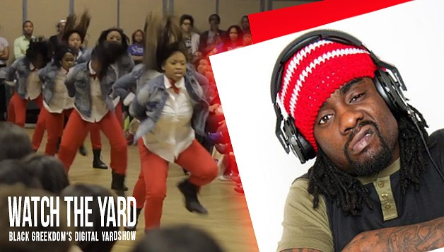 "Deltas stroll to ""House Party"", ""Ayy Ladies"", ""Slight Work"" and ""Rack City"" at the UNCC Stroll Competition. watch the yard"