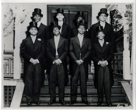 Martin Luther King Jr. (Bottom Right) pledging Alpha Phi Alpha, circa 1952