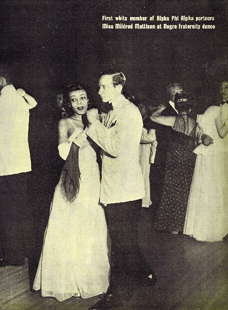Brother Bernard Levin (Theta, 46) at Alpha Dance, Circa 1946:47