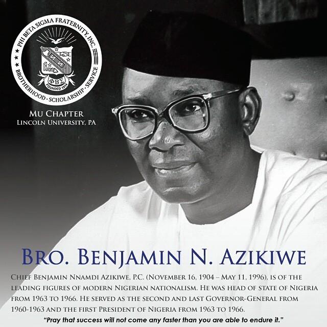 Benjamin Nnamdi Azikiwe phi beta sigma