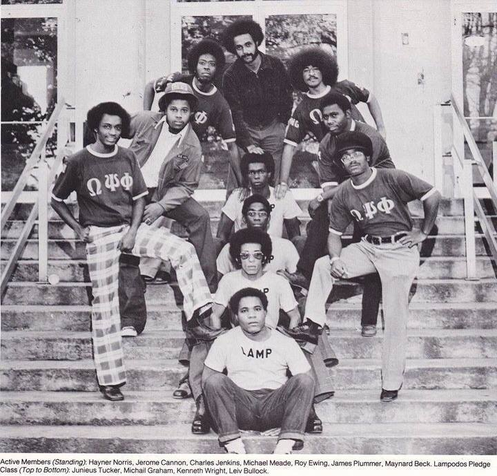 Theta Zeta Chapter of Omega Psi Phi (East Tennessee State University) 1973-74