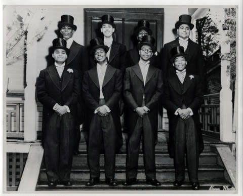 Martin Luther King Jr. (Bottom Right) pledging Alpha Phi Alpha, circa 1952