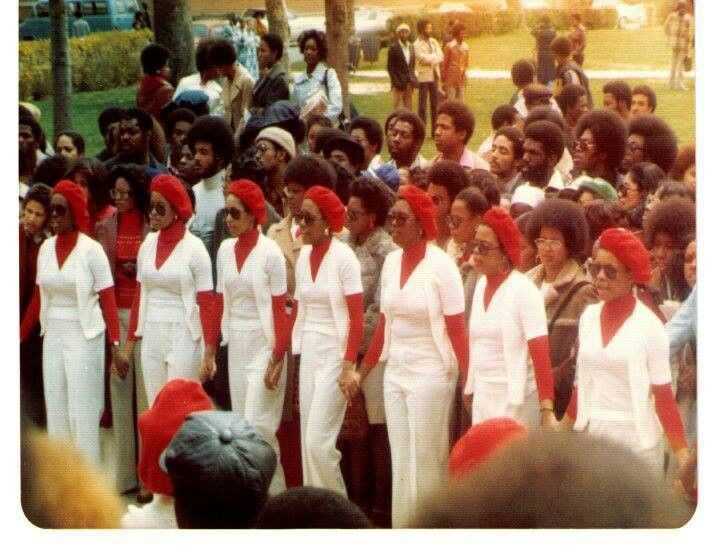 Charter Members of Eta Kappa Chapter (Spelman College) May 1970
