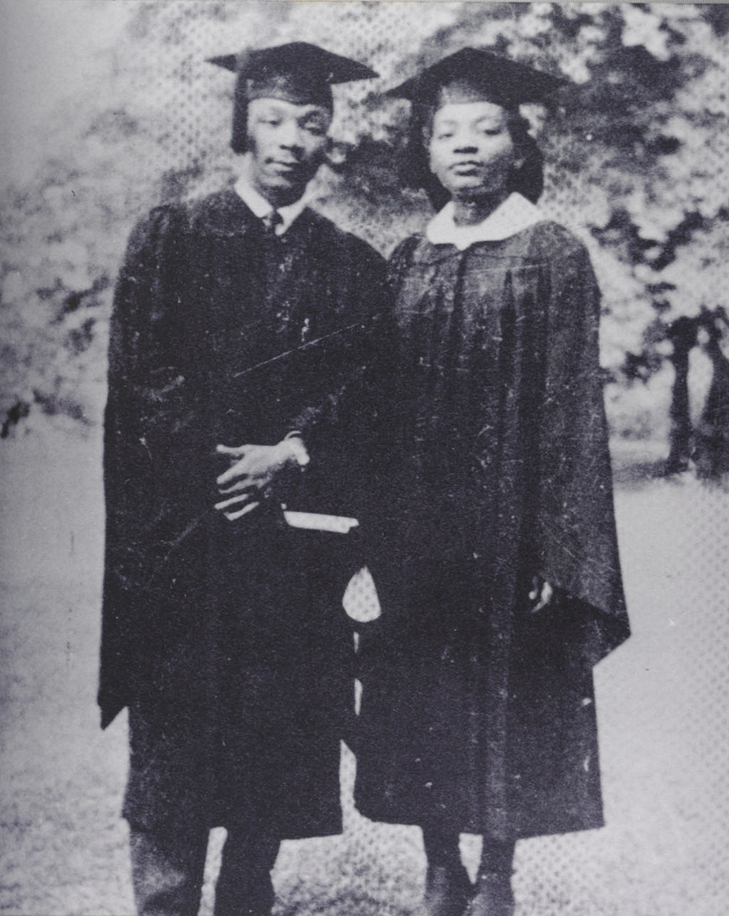 Picture from Dr. King's graduation from Morehouse. He enrolled at Morehouse College in 1944 when he was just 15 years old.