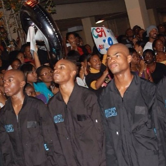 Picture of King Bach probating at Florida State
