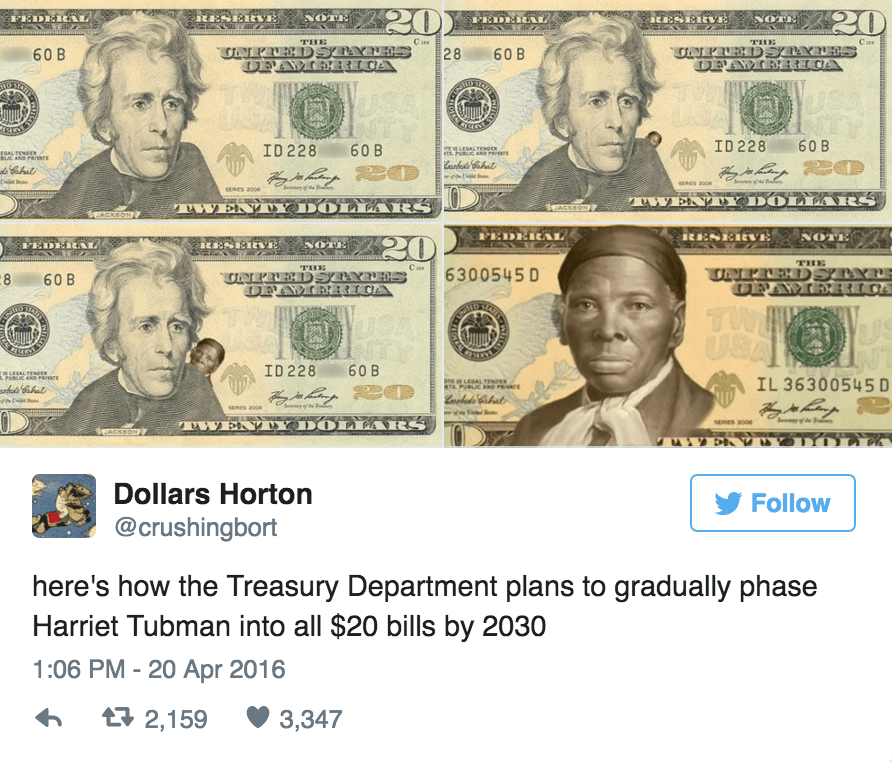 This Is How Black Twitter Reacted To The Harriet Tubman 20 Bill Announcement Watch The Yard