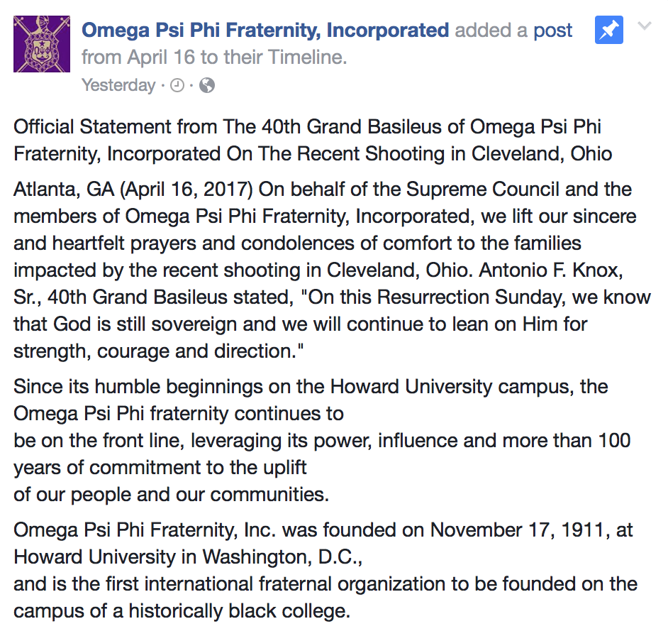 omega psi phi cleveland shooting