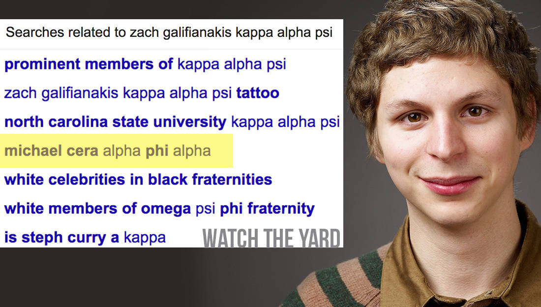 For the last time zach galifianakis is not a member of kappa alpha psi michael cera alpha phi alpha voltagebd Image collections